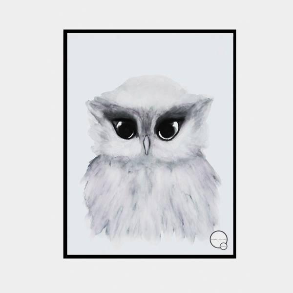 Bilde av Poster Owl 30x40cm