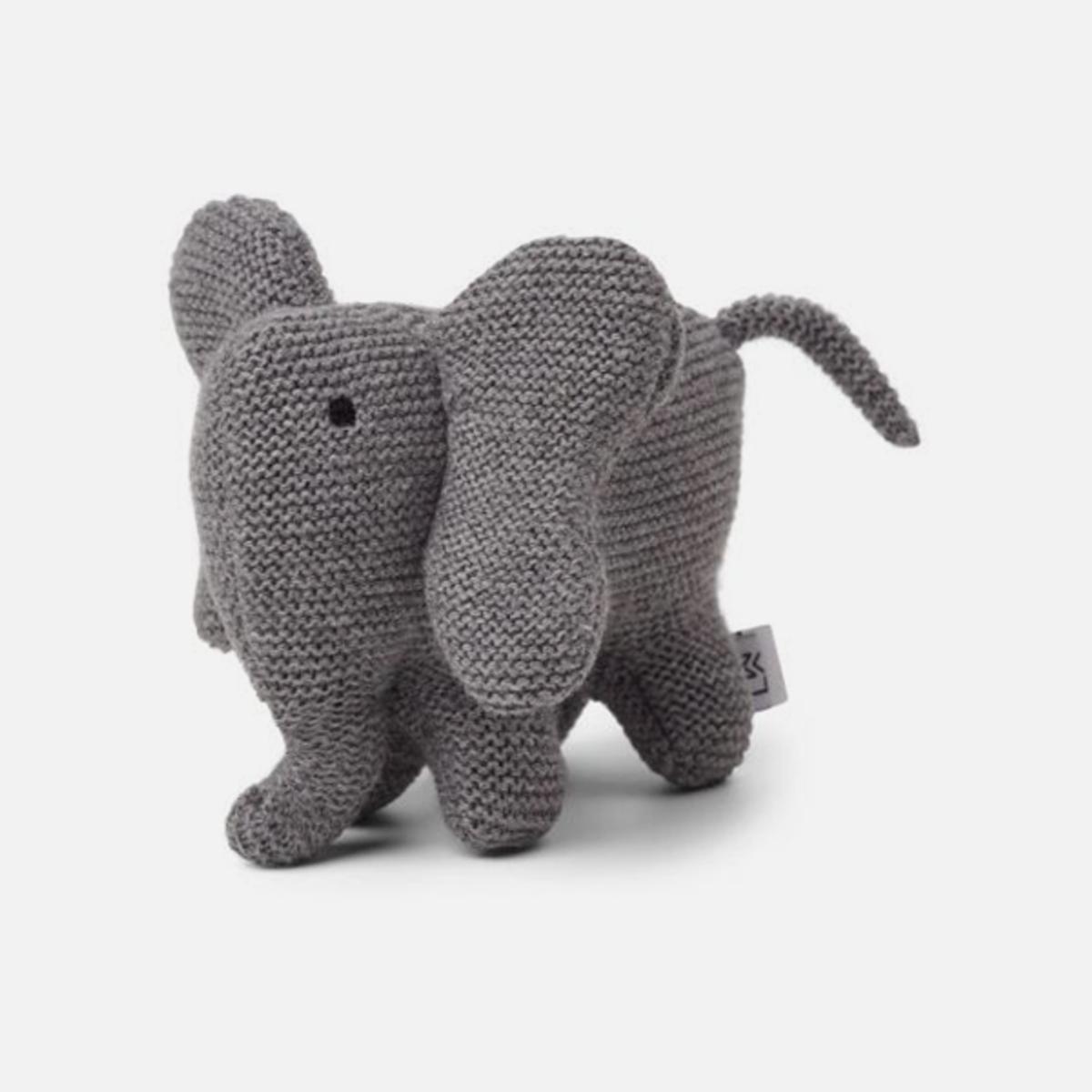 Kosedyr strikk Vigga Elephant Grey Melange